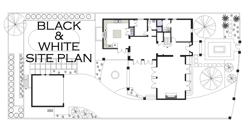 Black And White Site Plan